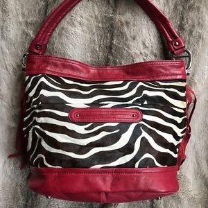 B. Makowsky Leather/Cow Hair Bucket/Shoulder Bag